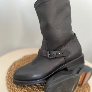 Rag & Bone Leather moto boot